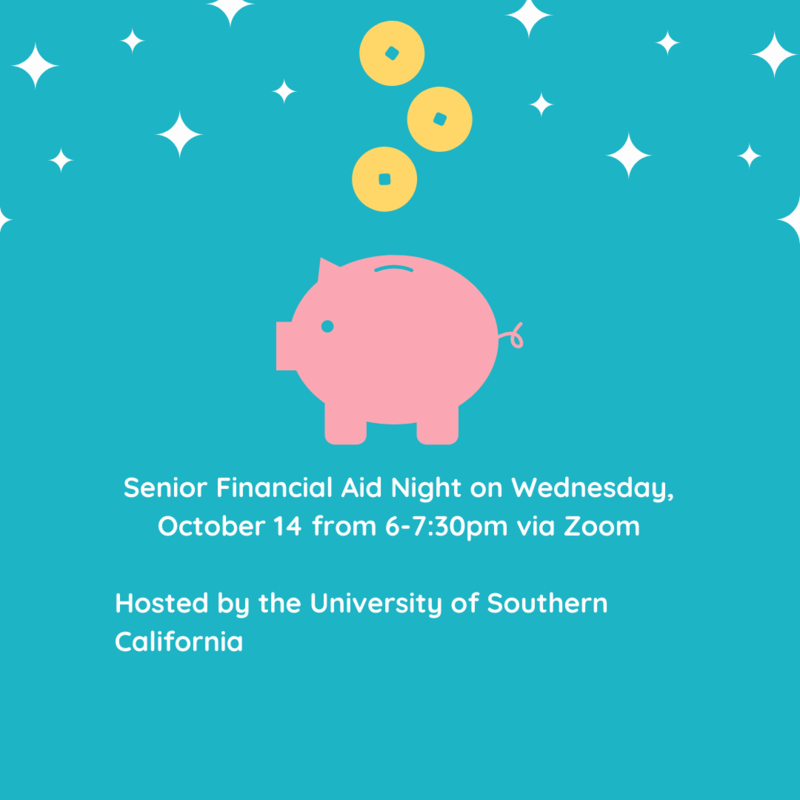 Senior Financial Aid Night on Wednesday, October 14 from 6-7:30PM Thumbnail Image