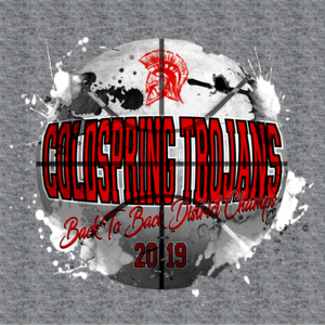 Image from Trojans basketball playoff shirts