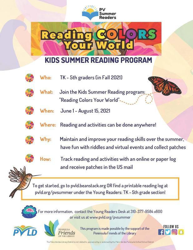 PV Summer Reading Program Thumbnail Image