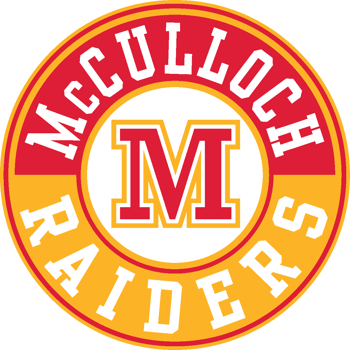 McCulloch Raiders letter crest logo
