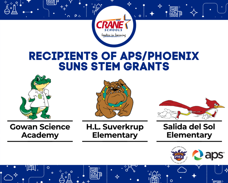 Crane Schools Receive APS Phoenix Suns STEM Teacher Grants Featured Photo
