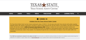 Texas State website picture