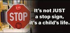 Bus stop arm,