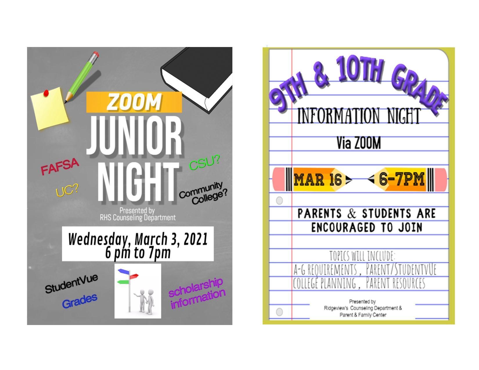 Student Info Night 2021