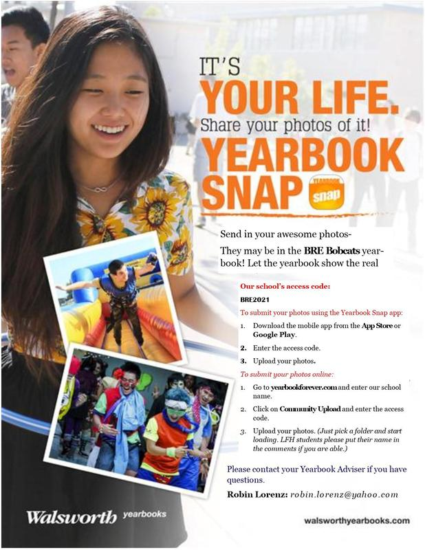 Upload your pictures for the yearbook!