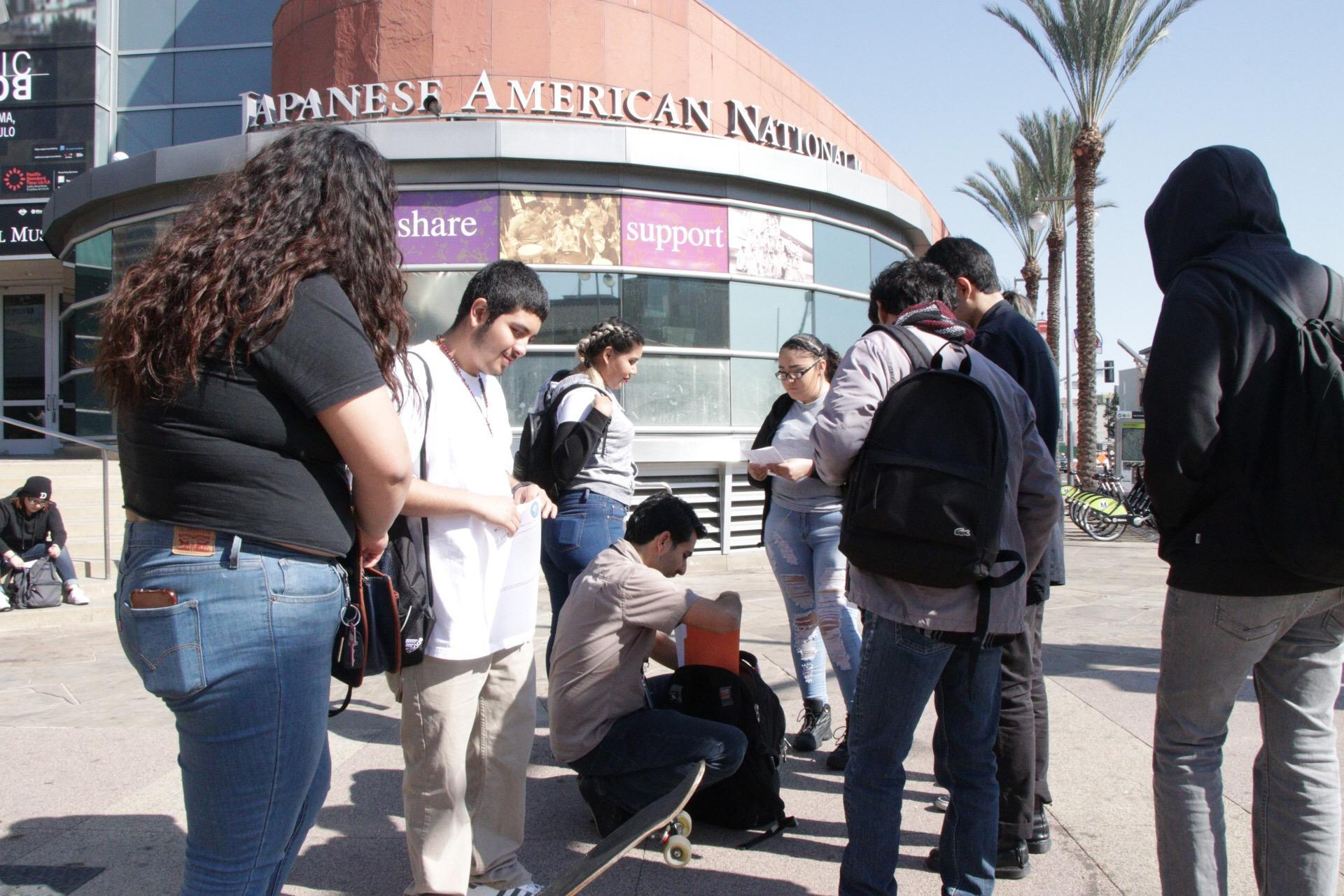 LA CAUSA students at Japanese American Museum