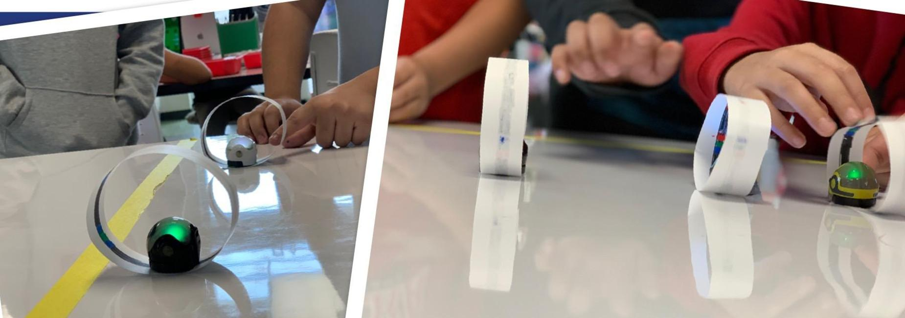 Ozobots in the Innovation Lab.