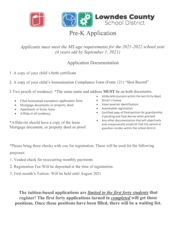 Tuition Pre-K Application