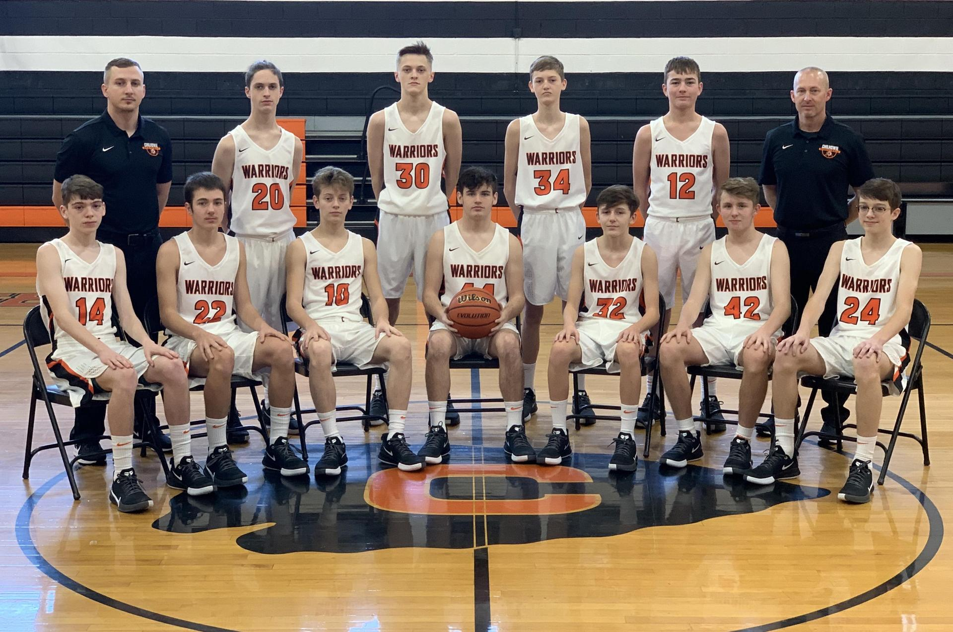 JV Boys Basketball Team 2019-2020