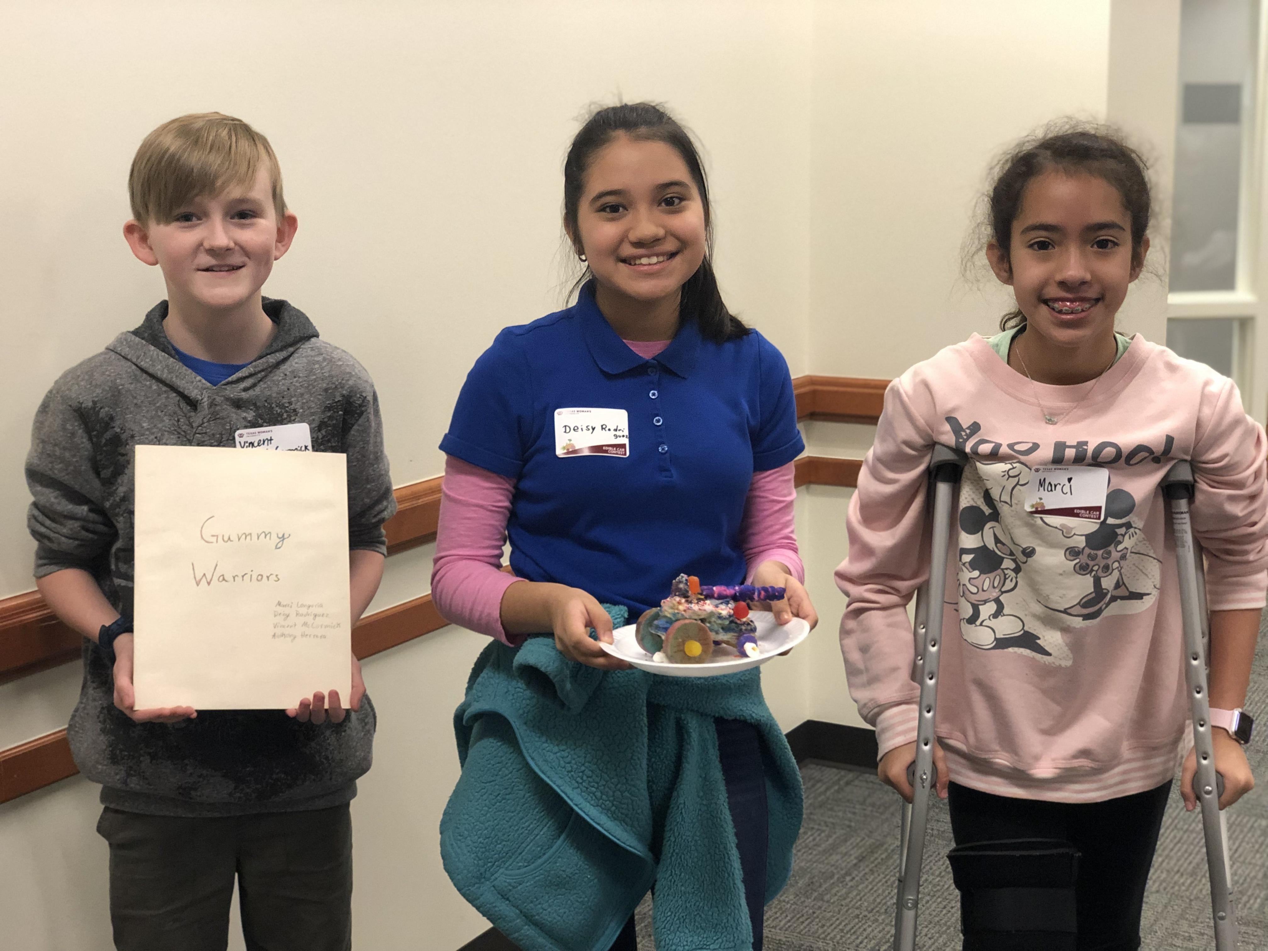 The  Gummy Warriors (Deisy Rodriguez, Marci Longoria Silva, Anthony Herrera and Vincent McCormick from Tannahill) earned Most Unique.