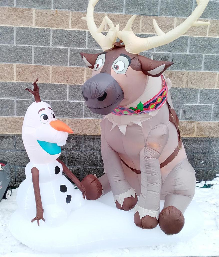 Inflatable holiday decorations