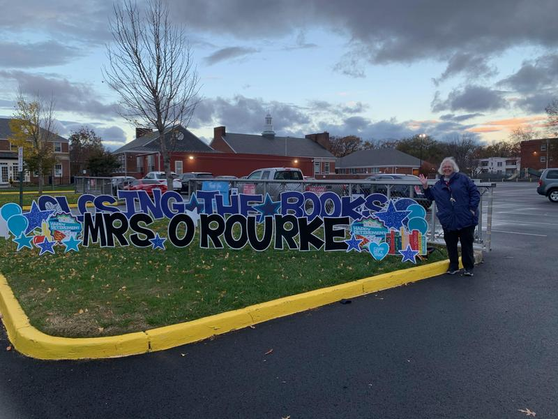 Today we say farewell to our beloved school librarian, Mrs. O'Rourke Featured Photo