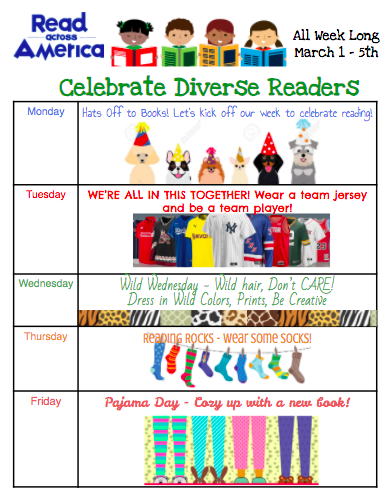 Read across America activities schedule