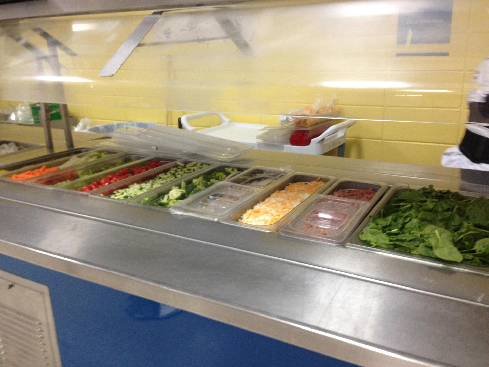 Middle school salad bar