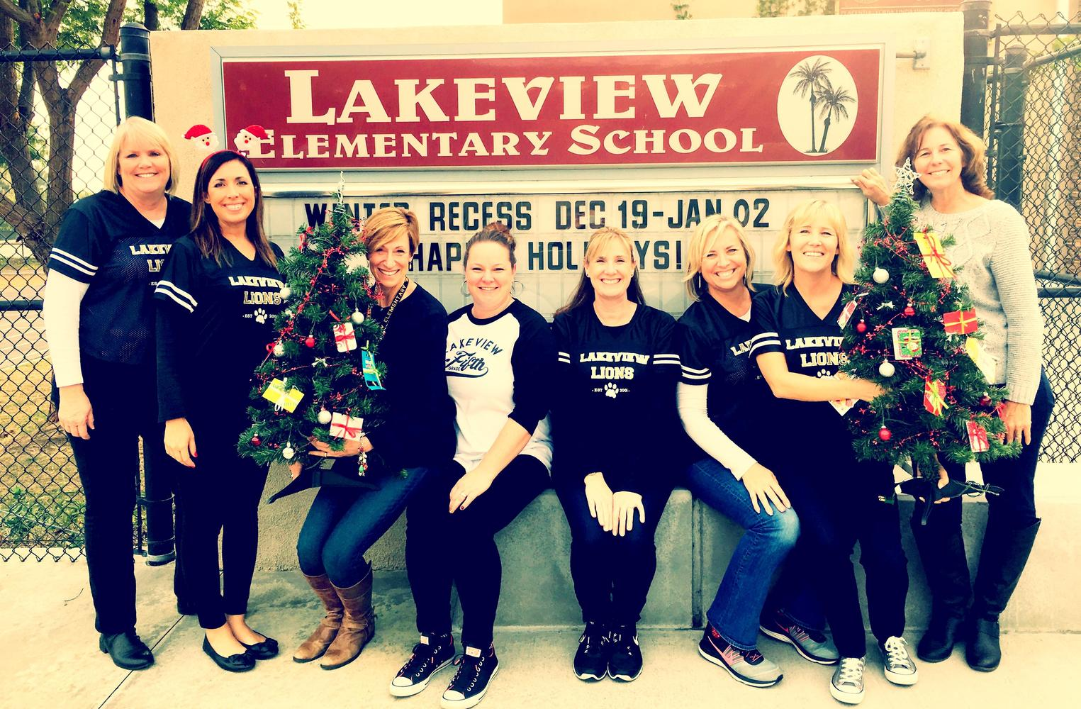 Lakeview staff supporting Samuel's Trees charity