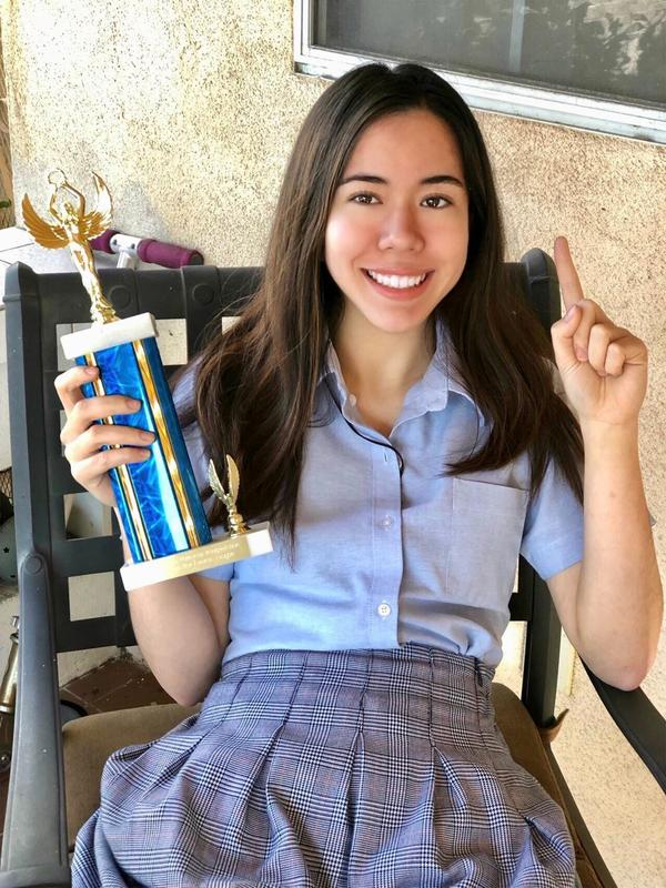 Our 2018 Valedictorian Continues to Challenge Herself and Take Trophies Featured Photo
