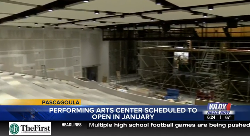 Pascagoula High Performing Arts Center set to Open in January