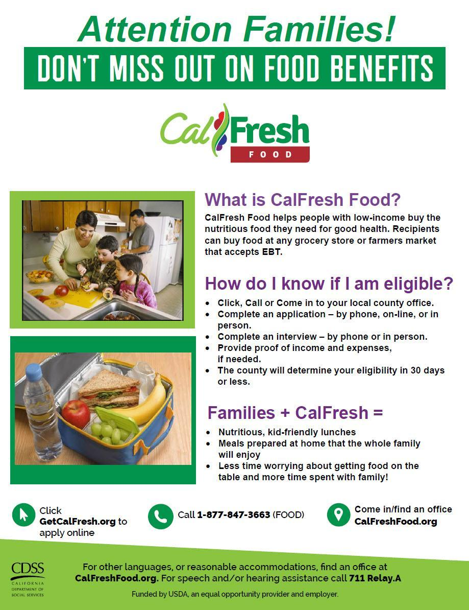 Cal Fresh benefits graphic