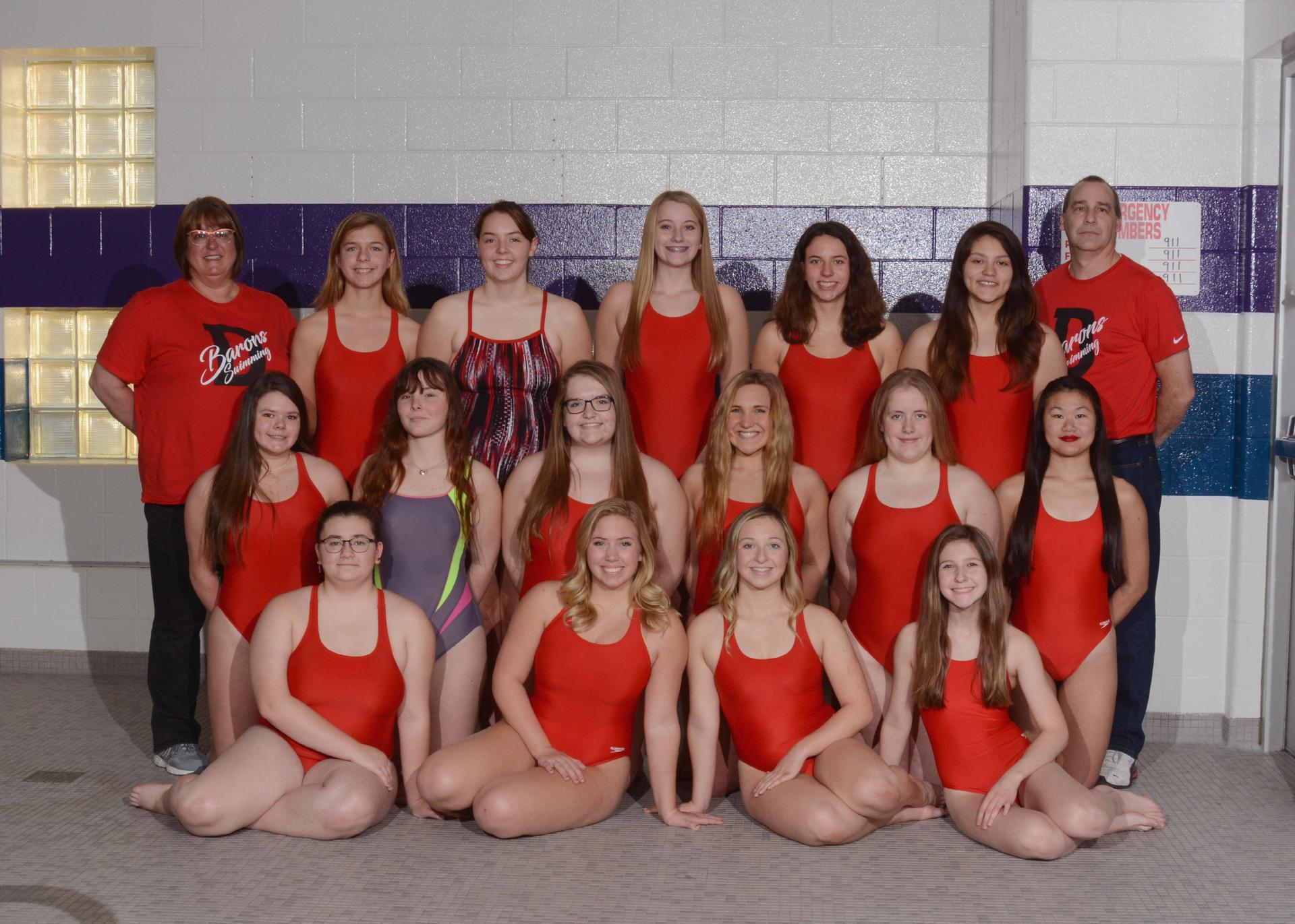 2019-2020 Lady Baron Swimming