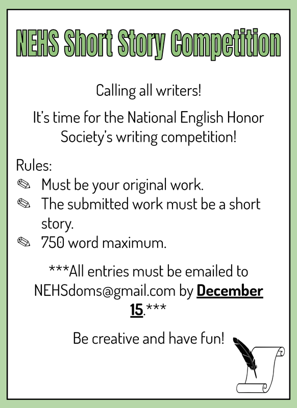 NEHS Short Story Competition Featured Photo