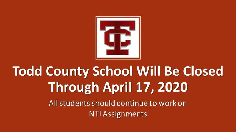 Todd County Schools CLOSURE EXTENDED THROUGH APRIL 17 Featured Photo