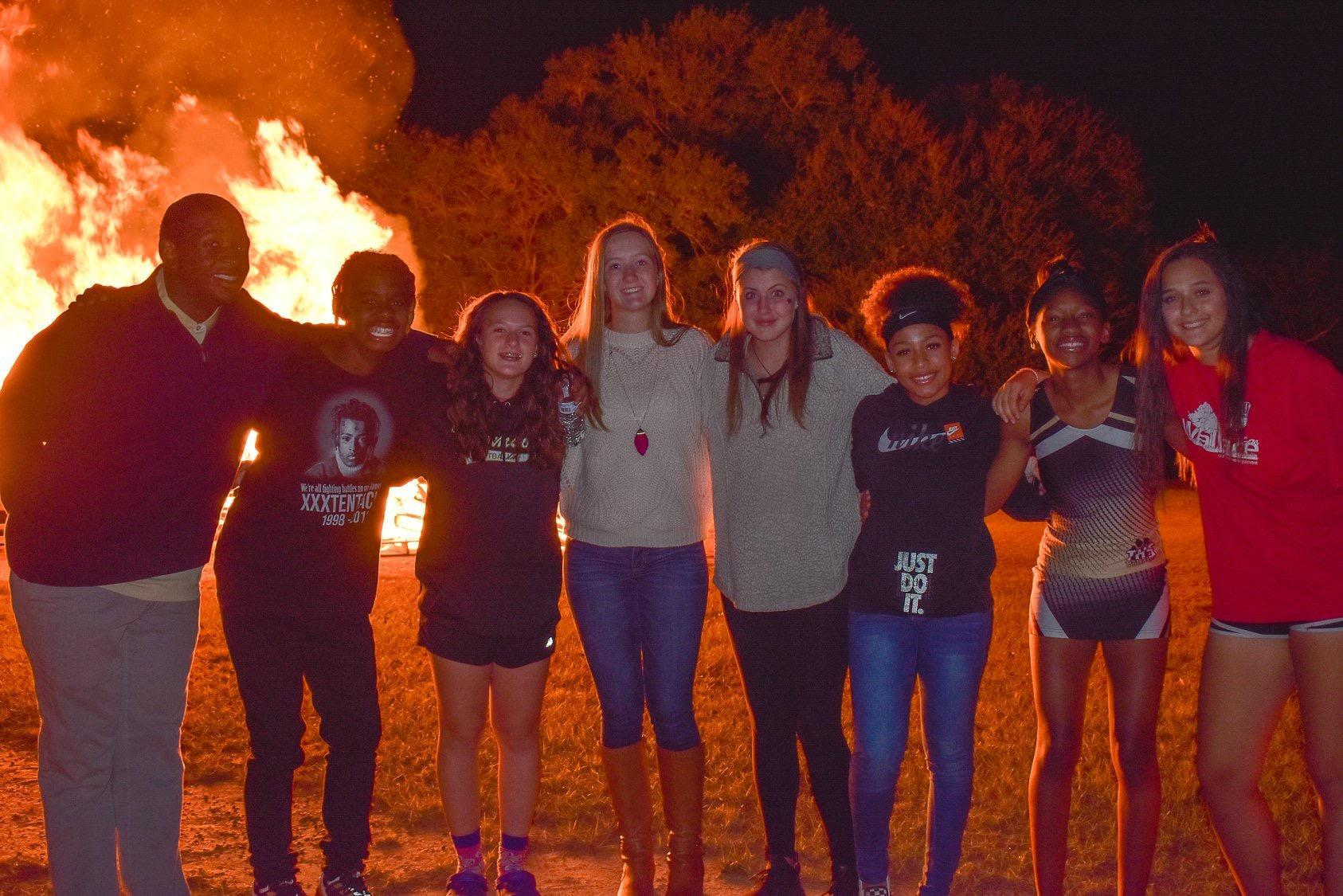 The Student Leadership Team at the FCA Bonfire.