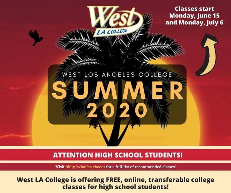 West L.A. College Summer 2020 Featured Photo