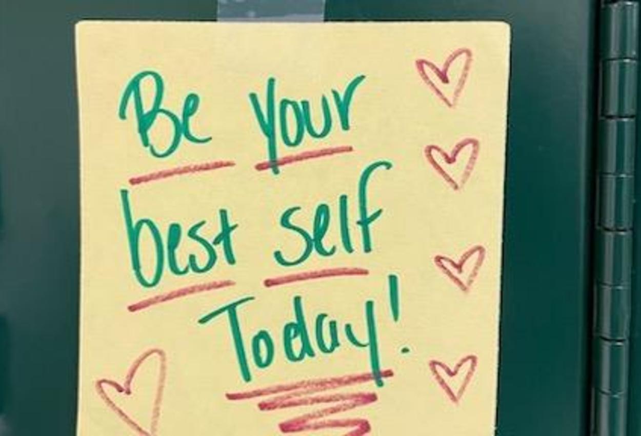 inspiring message on locker