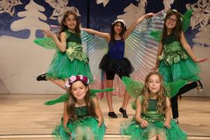 5 girls dressed as fairies