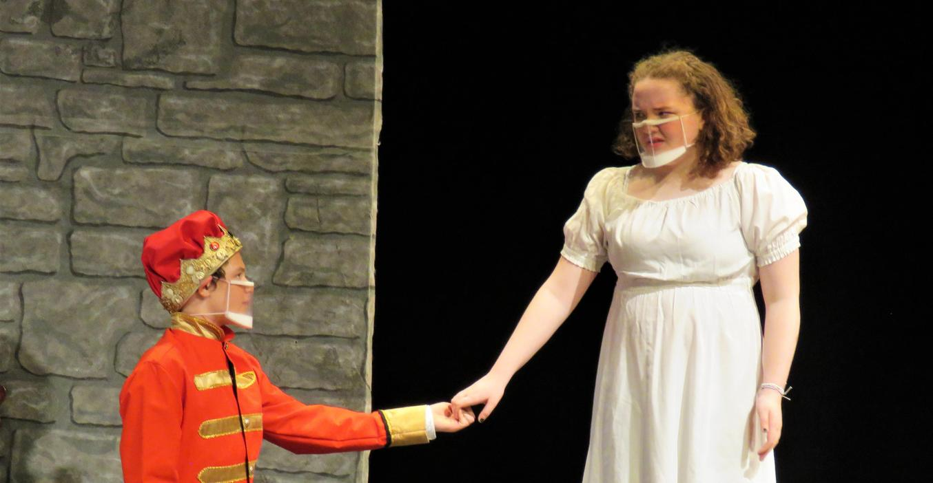 TKMS students act out a scene in their spring play.