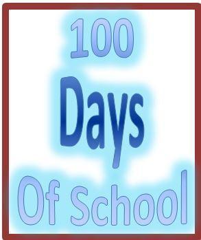 100 Days of School wordart