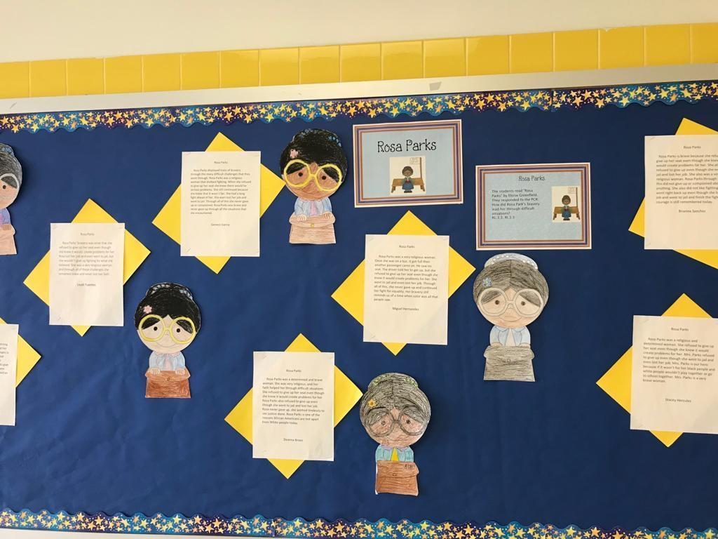 rosa parks research activity display