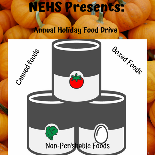 NEHS Annual Food Drive Thumbnail Image