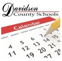 Generic calendar graphic with Davidson County Schools logo