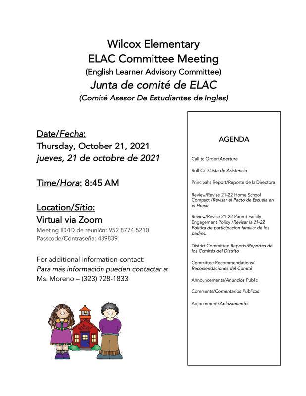 ELAC Committee Meeting Flyer
