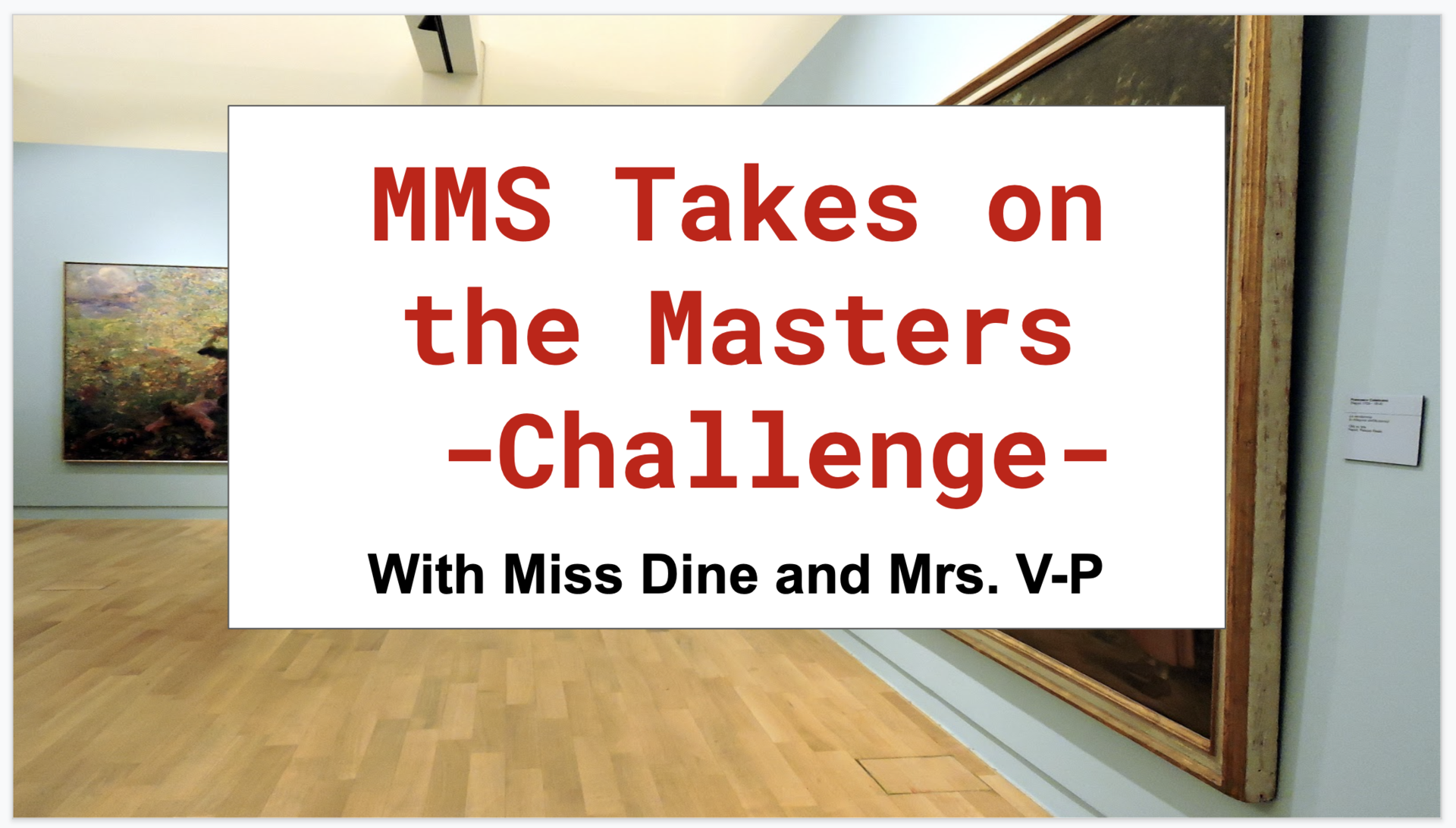 The Masters Challenge