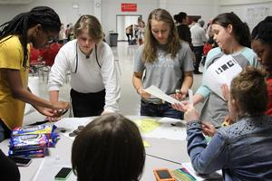 Students at Math & Science Night
