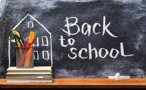 Picture of back to school message