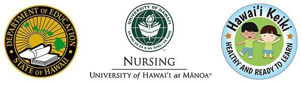 HIDOE Logo, UH Logo and Hawaii Nursing Logo