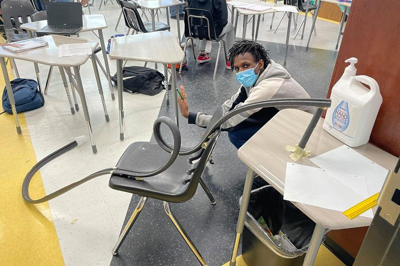 Pictured: Joseph Moore, VMS STEM student