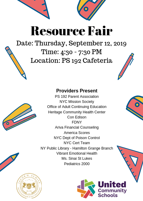 resource fair flyer english