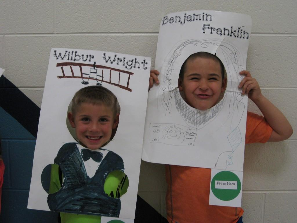 Wax Museum- Orvil Wright and Benjamin Franklin