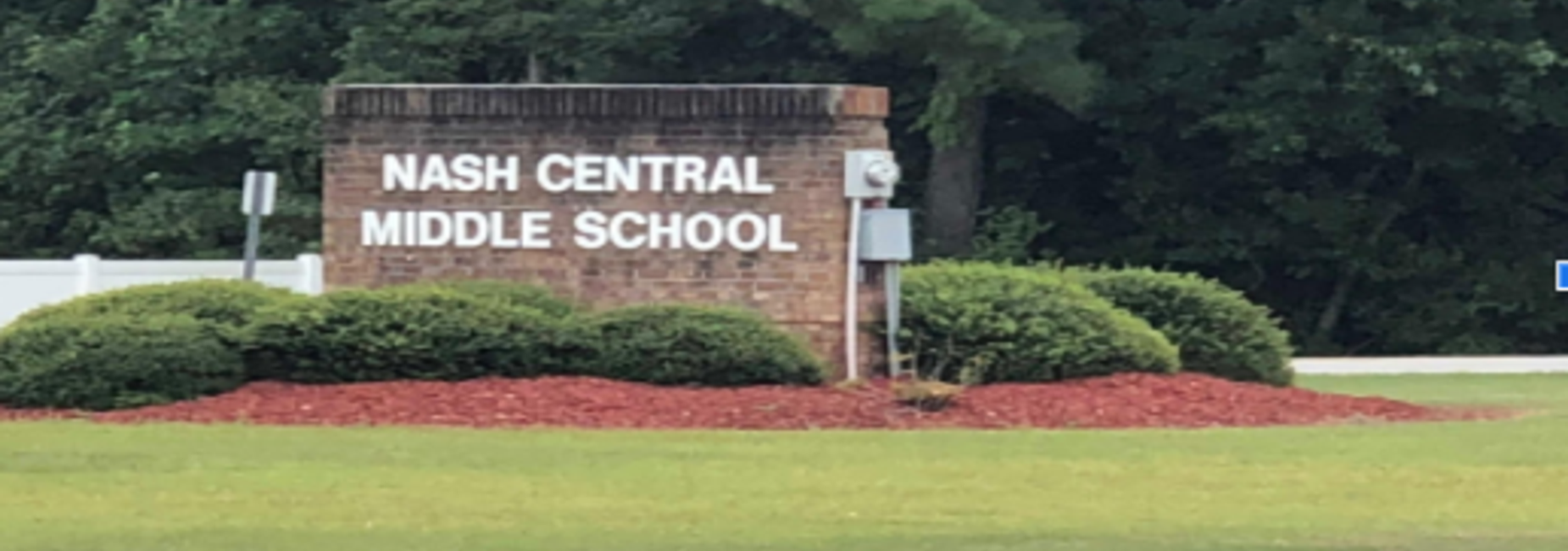 Nash Central Middle School sign