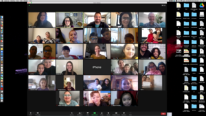 Zoom meeting maximized on desktop