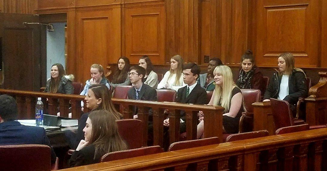 Mock Trial Team acting as jury