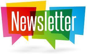 colorful image saying Newsletter