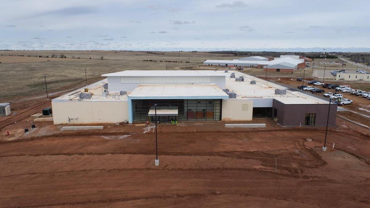 Drone image of new Junior High