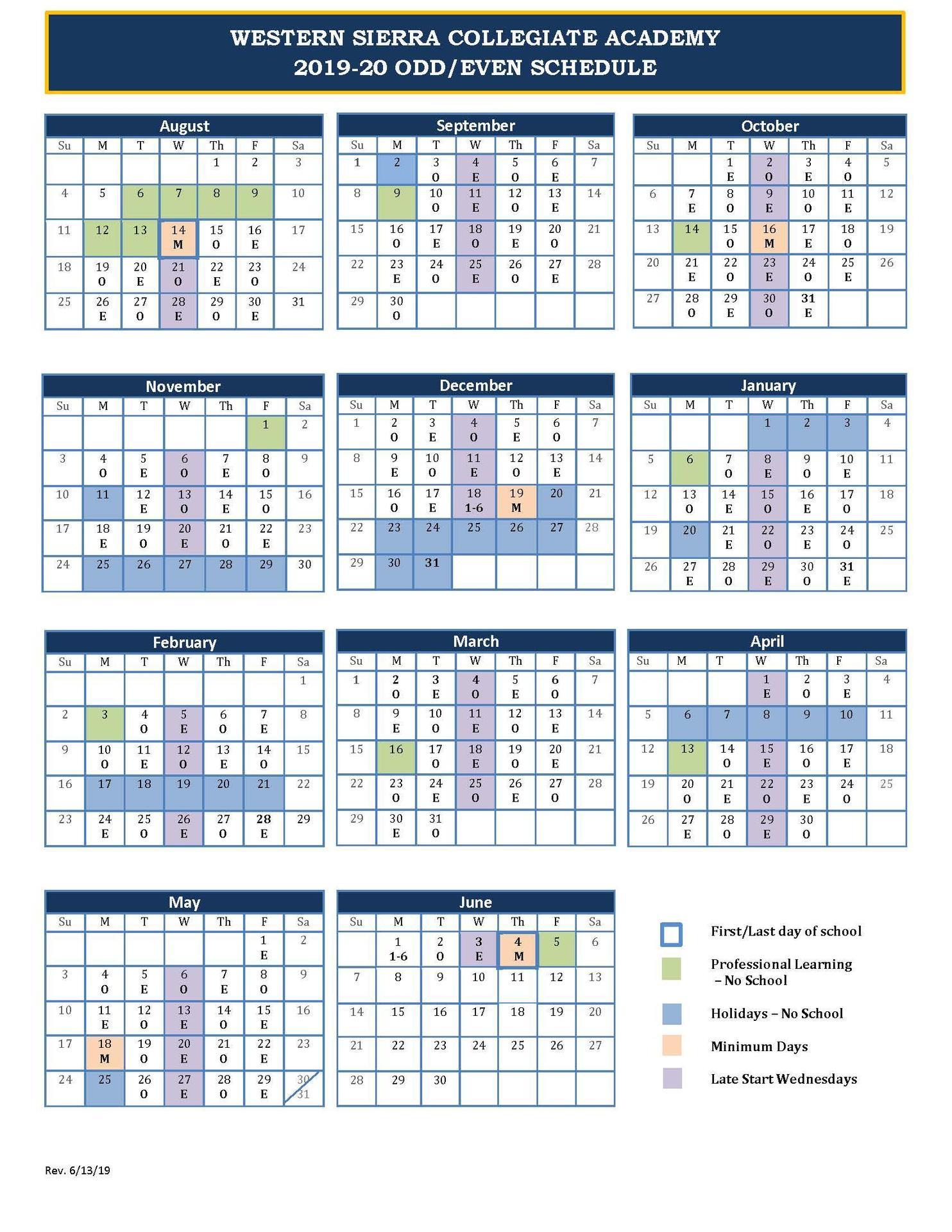Odd/Even Schedule