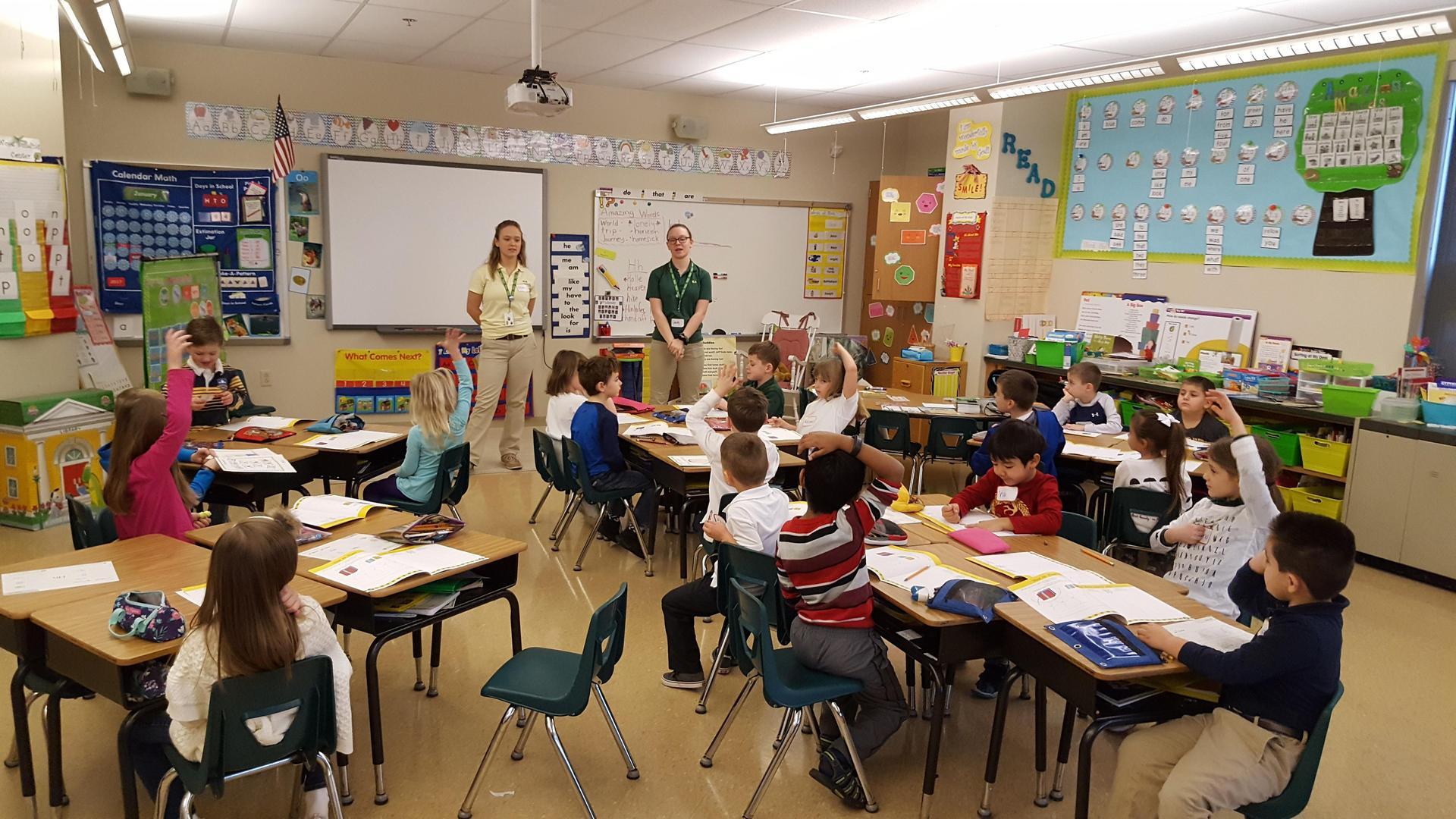 SLS students teach Junior Achievement curriculum to grade school students