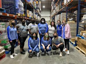 Airport High participants at the March 27 Hudson's Heroes Tackle Hunger event in Columbia.